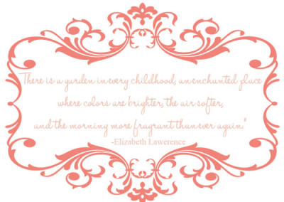 Enchanted Fairy Garden Quote