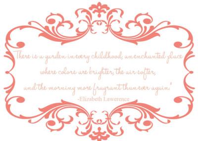 Enchanted Fairy Garden Quote