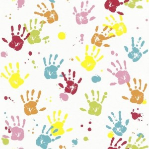 kids party time hands background