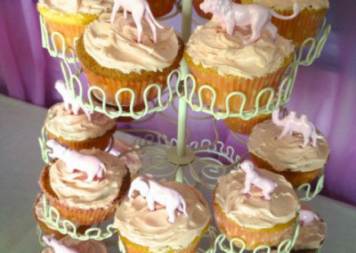 Pink Circus Birthday Party Cupcakes