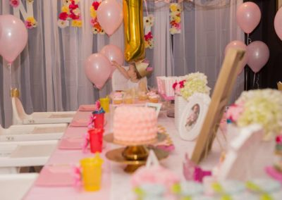First Birthday Party with Table Decorations