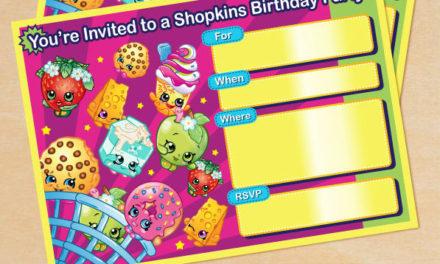 FREE Shopkins Birthday Party Printables