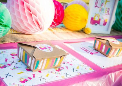 Glamping Girls Birthday Party Favours