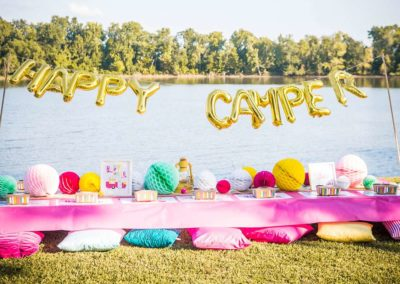 Glamping Girls Birthday Party Decorations