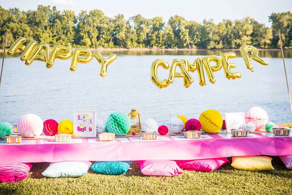 Girly Glamping Birthday Party