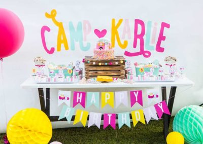 Glamping Girls Birthday Party Food Table