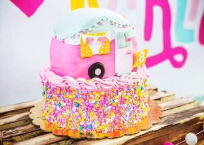 Glamping Girls Birthday Party Cake