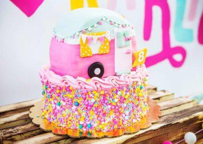 Glamping Girls Birthday Party Cake