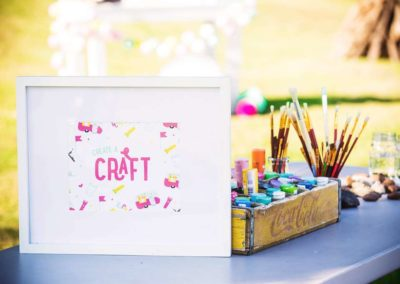 Glamping Girls Birthday Party Craft