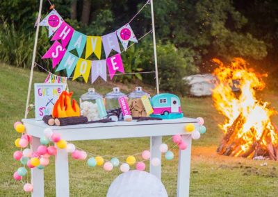 Glamping Girls Birthday Party Cook Fire