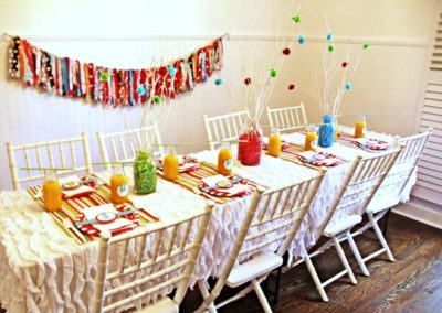 Pancake and Pajamas Party Table