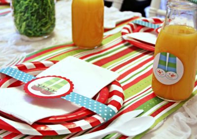 Pancake and Pajamas Party Tablesetting