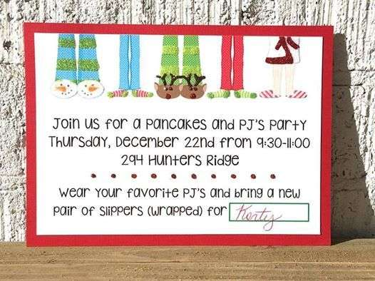 Pancake and Pajamas Party – Pancake Party Invitations