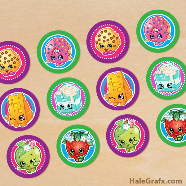 Free Printable Shopkins Party Cupcake Toppers