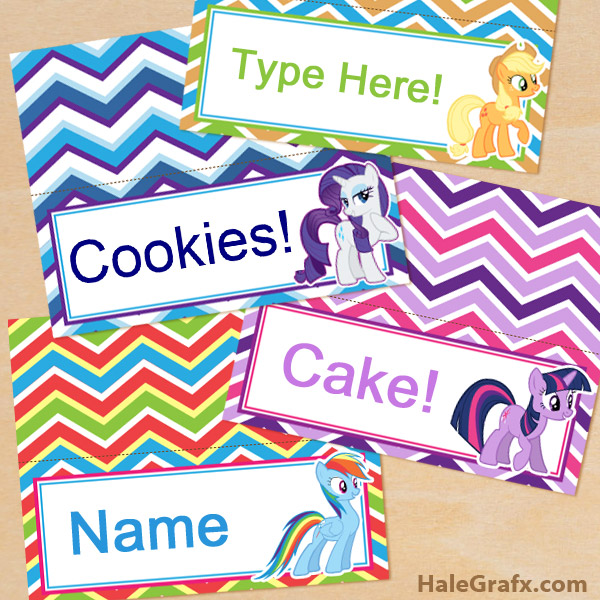 Free My Little Pony Birthday Party Printables Kids Party Time