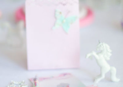 Unicorn birthday party favours