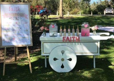 Girls First Birthday in Park - Drink Trolley