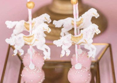 Carousel Birthday Party - cake pops