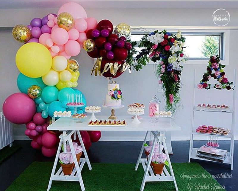 Musical Garden Birthday Party by Baked by Belinda