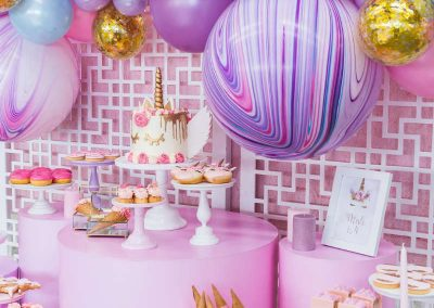 Unicorn Fiesta Birthday Party - styled table