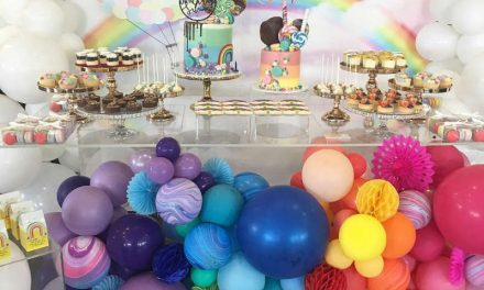 Over the Rainbow Birthday Party by sweets by dooha
