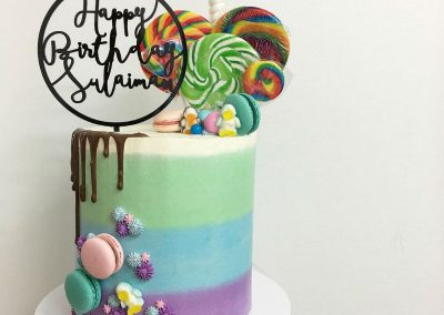 Over the Rainbow Birthday Party - birthday cake
