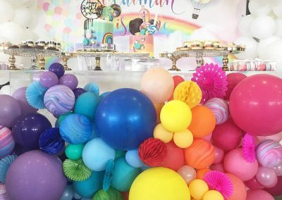 Over the Rainbow Birthday Party - balloons