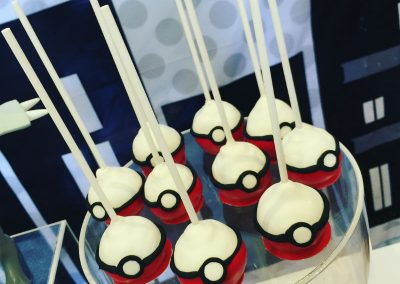 Pokemon Birthday Party - cake pops