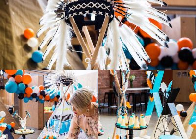 Pow Wow First Birthday Party - decorations