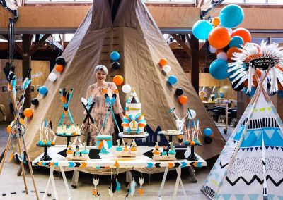 Pow Wow First Birthday Party - overview