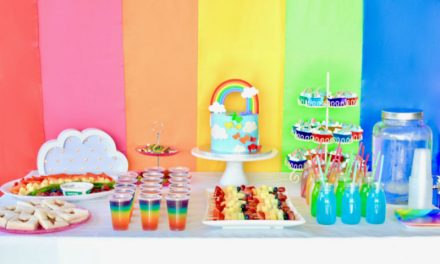 Rainbow Birthday Party by Karen