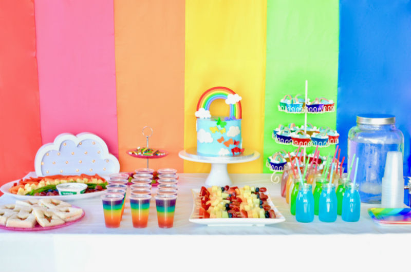 Rainbow Birthday Party by Karen