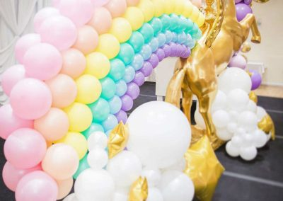 Rainbow and Unicorns Birthday Party - rainbow