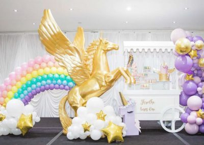Rainbow and Unicorns Birthday Party