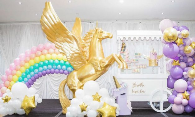 Rainbows and Unicorns Birthday Party by sass events