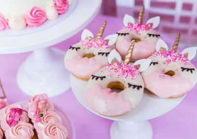 Unicorn Fiesta Birthday Party - donuts