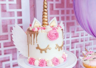 Unicorn Fiesta Birthday Party - birthday cake