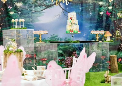 Whimsical Fairy Birthday Party - backdrop