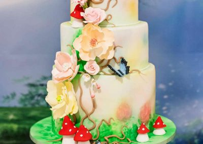 Whimsical Fairy Birthday Party - birthday cake
