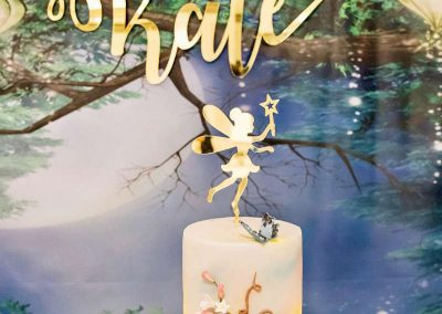 Whimsical Fairy Birthday Party - cake