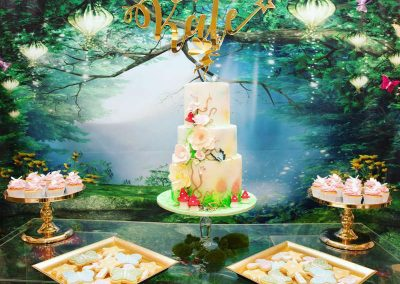 Whimsical Fairy Birthday Party - dessert table