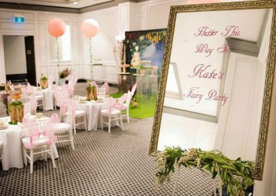 Whimsical Fairy Birthday Party - welome