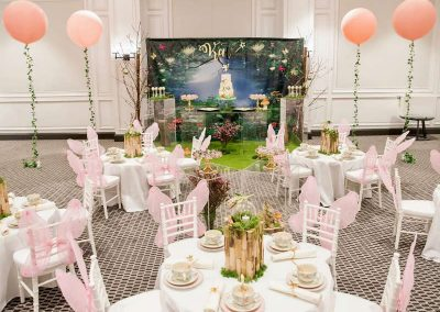 Whimsical Fairy Birthday Party - seating