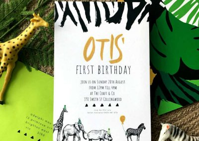 Wild One Birthday Party - Invitations