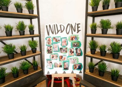 Wild One Birthday Party Photo Wall