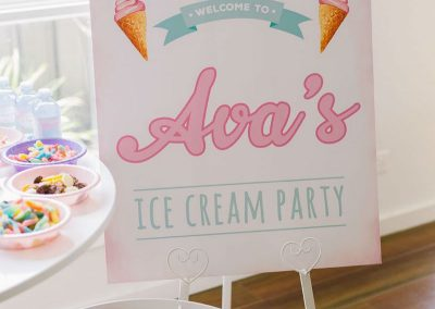 Ice Cream Birthday Party - sign