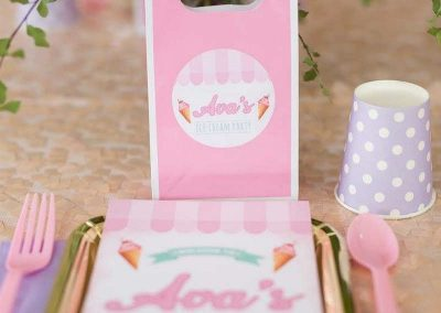 Ice Cream Birthday Party - party favours