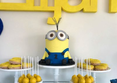 Minion Birthday Party cake and sweets