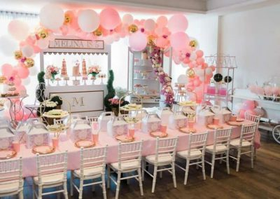 Parisian Hight Tea Birthday Party - overview