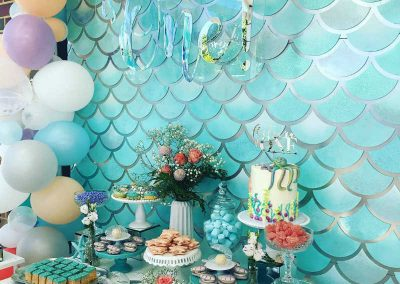 Under the Sea Magic Birthday Party - dessert table